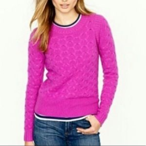 J Crew Honeycomb cable-Knit crew neck sweater XS